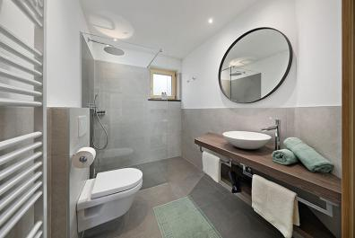 Bathroom with window and shower